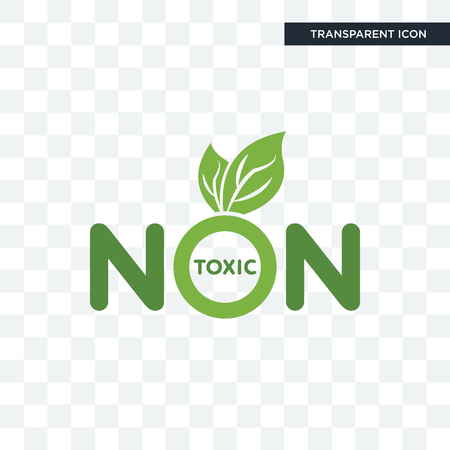 non toxic vector icon isolated on transparent background, non toxic logo concept