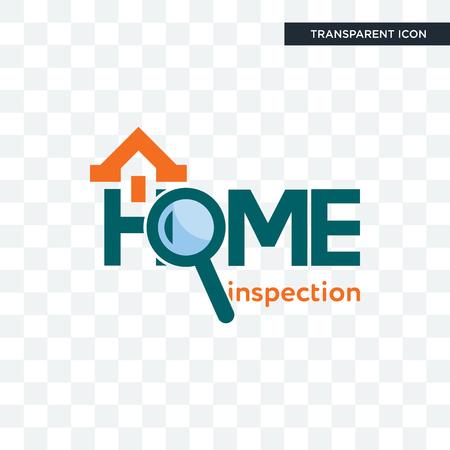 Icono de vector de inspección de vivienda aislado sobre fondo transparente, concepto de logo de inspección de vivienda