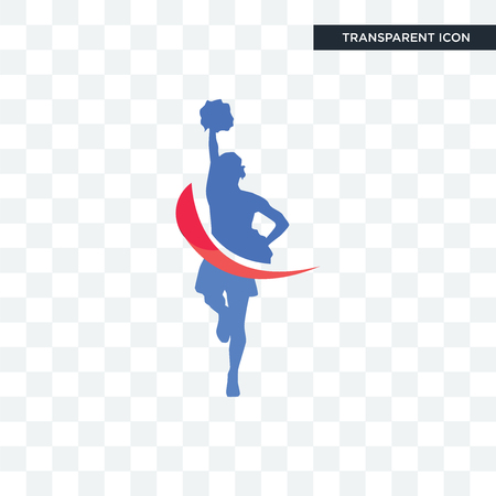 cheerleader vector icon isolated on transparent background, cheerleader logo concept