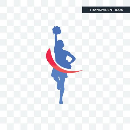cheerleader vector icon isolated on transparent background, cheerleader logo concept