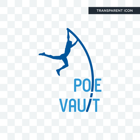 pole vault vector icon isolated on transparent background, pole vault logo concept  イラスト・ベクター素材