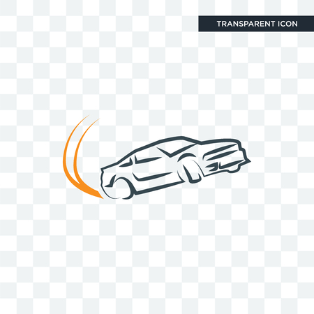 drift vector icon isolated on transparent background, drift logo concept  イラスト・ベクター素材