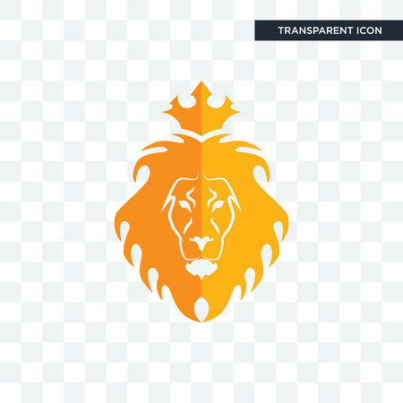 judah and the lion vector icon isolated on transparent background, judah and the lion logo concept
