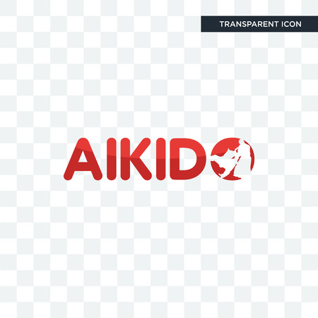 aikido vector icon isolated on transparent background, aikido logo concept