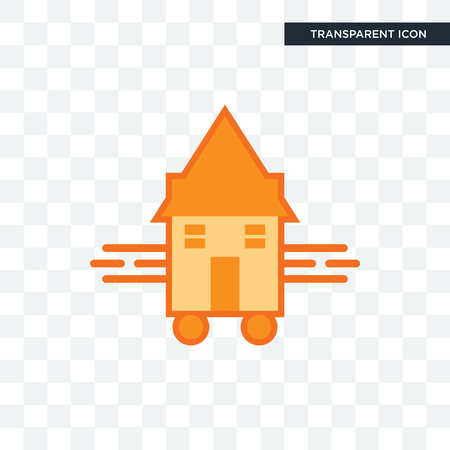 tiny house vector icon isolated on transparent background, tiny house logo concept Ilustrace