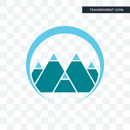 mont vector icon isolated on transparent background, mont logo concept Stock Vector - 103695181