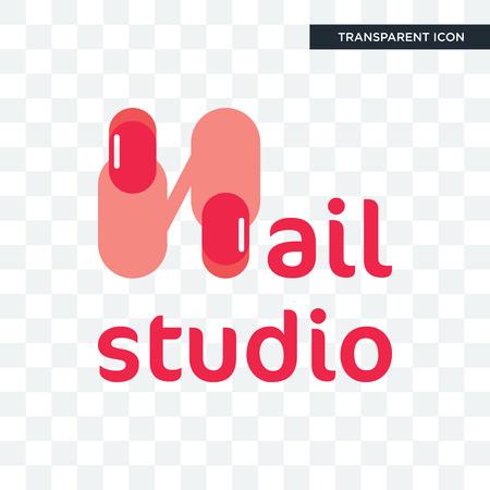 icono de vector de estudio de uñas aislado sobre fondo transparente, concepto de logo de estudio de uñas