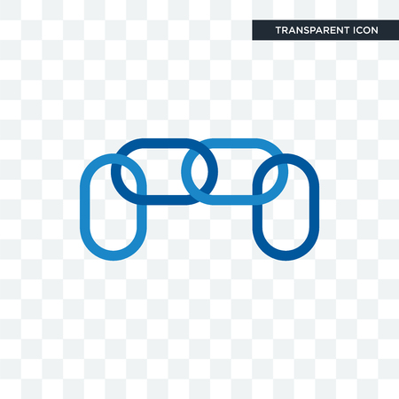 chainlink vector icon isolated on transparent background, chainlink logo concept Illustration