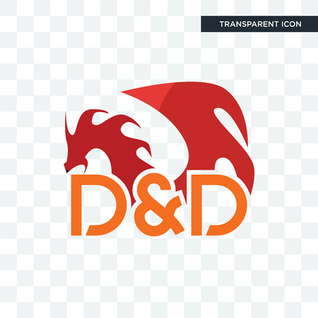dungeons and dragons vector icon isolated on transparent background, dungeons and dragons logo concept