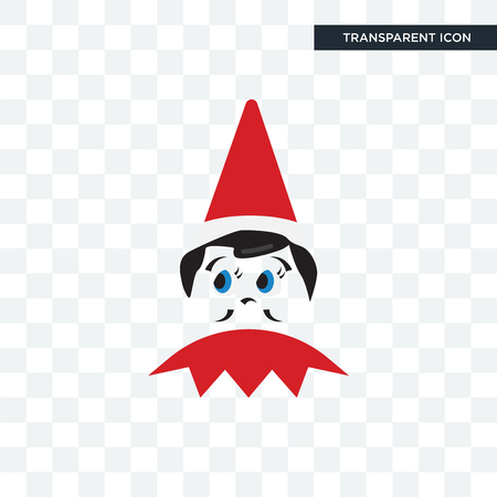 elf on the shelf vector icon isolated on transparent background, elf on the shelf logo concept