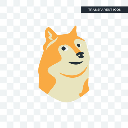 doge vector icon isolated on transparent background, doge logo concept
