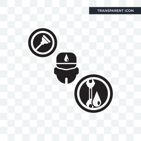 Plumber vector icon isolated on transparent background, Plumber logo concept