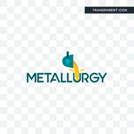 metallurgy vector icon isolated on transparent background, metallurgy logo concept