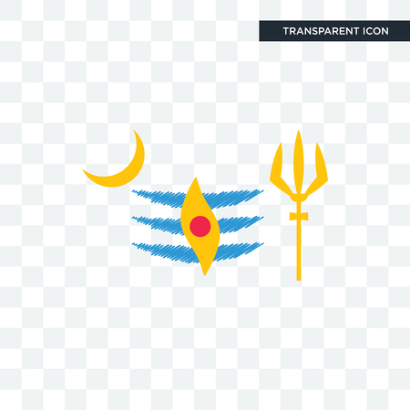 mahadev vector icon isolated on transparent background, mahadev logo concept