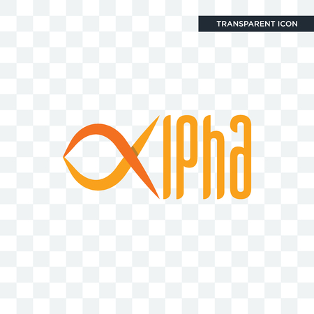 alpha vector icon isolated on transparent background, alpha logo concept 일러스트