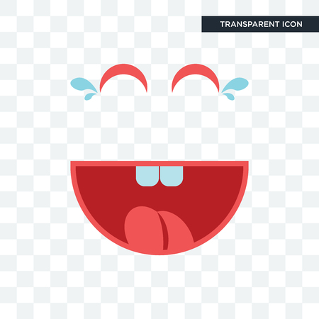 laugh vector icon isolated on transparent background, laugh logo concept Ilustração