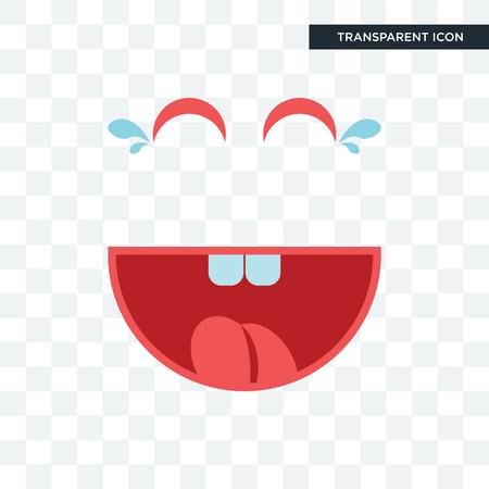 laugh vector icon isolated on transparent background, laugh logo concept Illusztráció