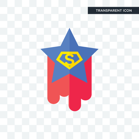 superstar vector icon isolated on transparent background, superstar logo concept Ilustração