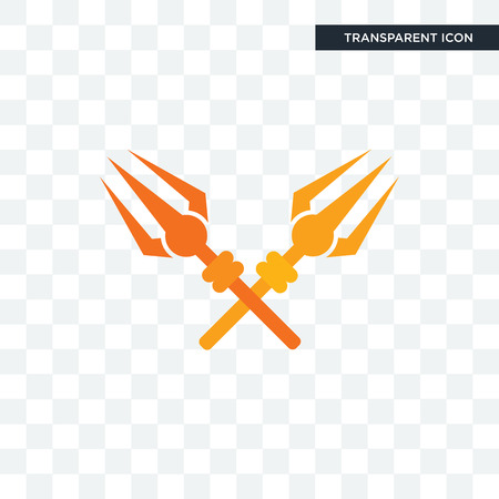 trishul vector icon isolated on transparent background, trishul logo concept