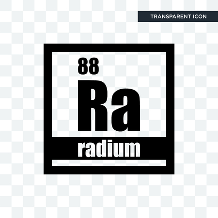 radium vector icon isolated on transparent background, radium logo concept