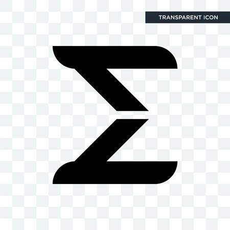 sigma vector icon isolated on transparent background, sigma logo concept 일러스트