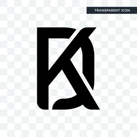 kd vector icon isolated on transparent background, kd logo concept
