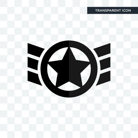 air force vector icon isolated on transparent background, air force logo concept