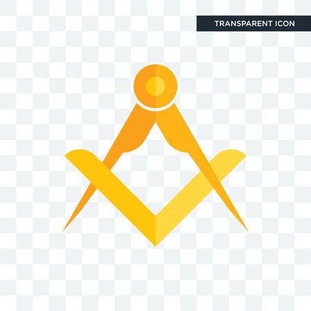 masonic vector icon isolated on transparent background, masonic logo concept