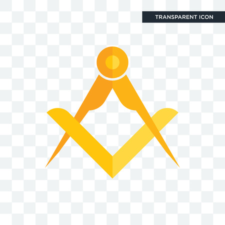 masonic vector icon isolated on transparent background, masonic logo concept