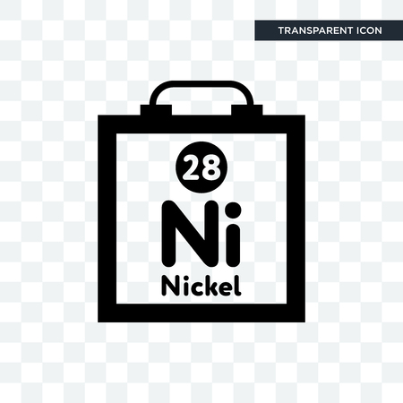 nickel vector icon isolated on transparent background, nickel logo concept Illustration