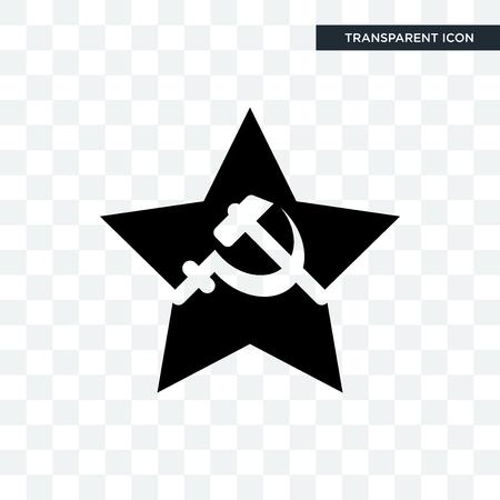comunist vector icon isolated on transparent background, comunist logo concept Vettoriali