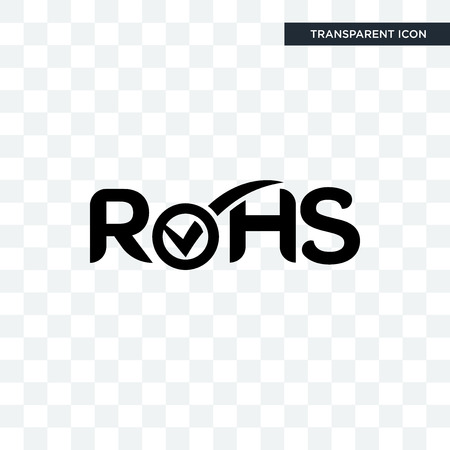 rohs vector icon isolated on transparent background, rohs logo concept