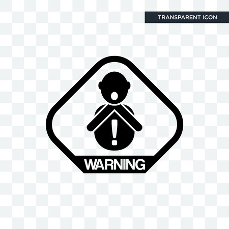 choking hazard vector icon isolated on transparent background, choking hazard logo concept