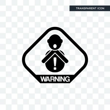 choking hazard vector icon isolated on transparent background, choking hazard logo concept