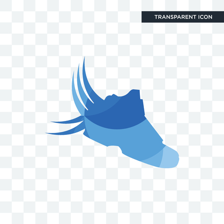 shoes with wings vector icon isolated on transparent background, shoes with wings logo concept Illustration