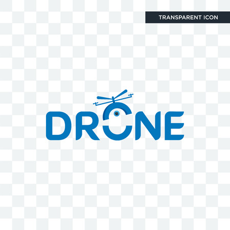 drone photography vector icon isolated on transparent background, drone photography logo concept Ilustracja