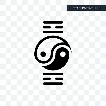 qigong vector icon isolated on transparent background, qigong logo concept