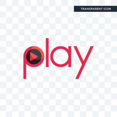 play vector icon isolated on transparent background, play logo concept Stock Illustratie