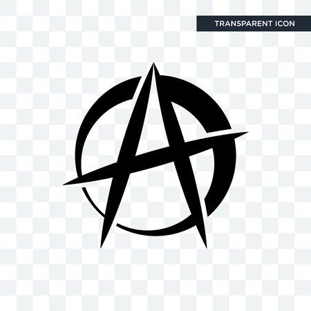 anarchist vector icon isolated on transparent background, anarchist logo concept