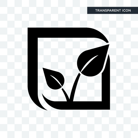 pure veg vector icon isolated on transparent background, pure veg logo concept