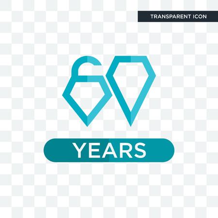 diamond jubilee vector icon isolated on transparent background, diamond jubilee logo concept