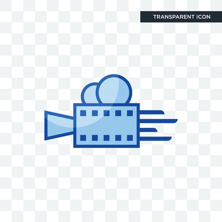 videography vector icon isolated on transparent background, videography logo concept