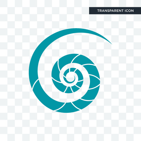 Nautilusschelp vector pictogram geïsoleerd op transparante achtergrond, Nautilusschelp logo concept