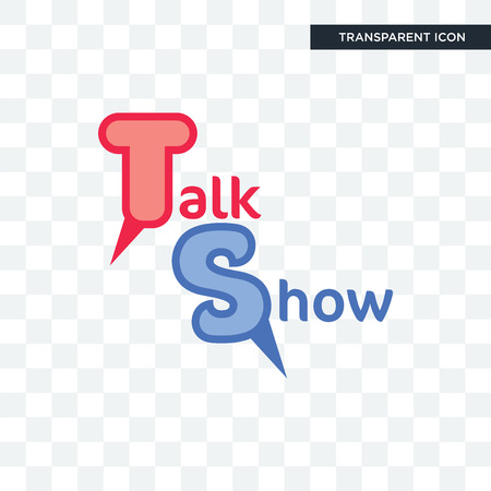 talk show vector icon isolated on transparent background, talk show logo concept