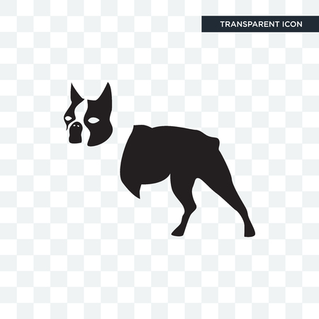 boston terrier vector icon isolated on transparent background, boston terrier logo concept