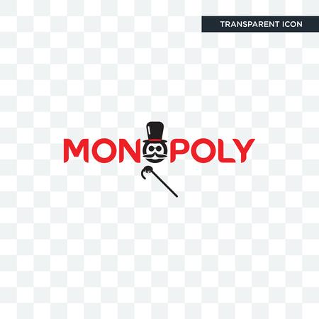 icona di vettore di monopolio isolato su sfondo trasparente, concetto di marchio di monopolio