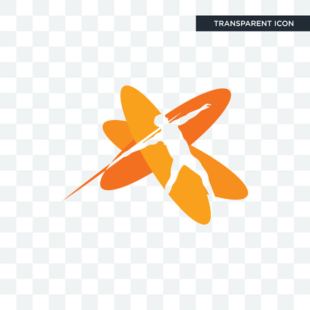javelin vector icon isolated on transparent background