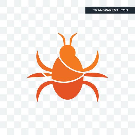 icono de vector de cucaracha aislado sobre fondo transparente,