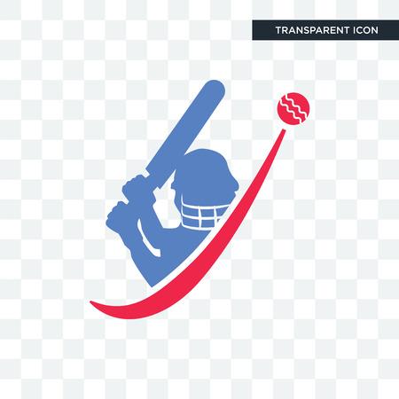 Icône de vecteur de cricket isolé sur fond transparent, concept logo cricket