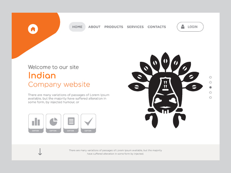 Quality One Page Indian Website Template